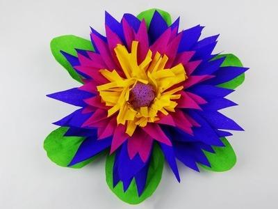 Party decoration flower DIY crepe paper flower deco Partydekoration Blume