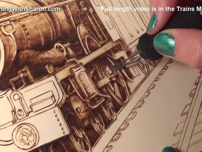 Pyrography: How to Woodburn Detail on Trains in the Shadows