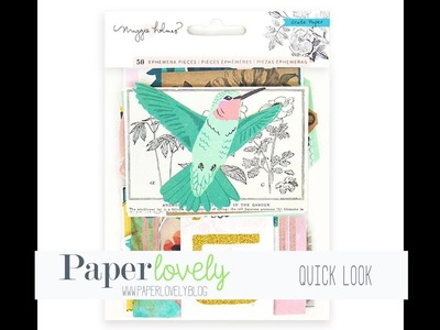 Quick Look | Crate Paper - Flourish Ephemera with Glitter Accents