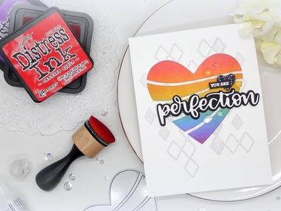 Rainbow Heart: Clean & Simple Card with a Die Cut Focal Point