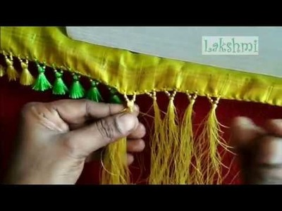Saree Kuchu.tassel using small plain beads- simple tips for beginers