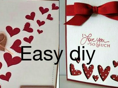 Simple and easy diy greeting card || last minute gift|| Valentine's day card || pop up card at home