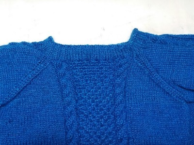Single colour girls top knitting design- part -4