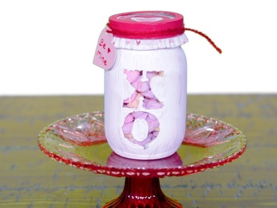 These DIY Festive Valentine's Day Candy Jars Make The Perfect Gift