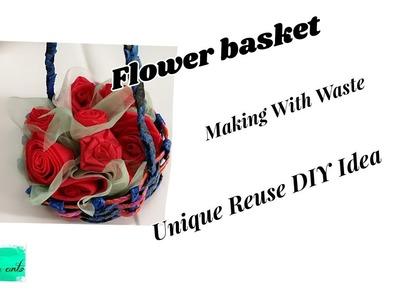 Unique Reuse DIY Idea | Making flower basket |Best out of waste