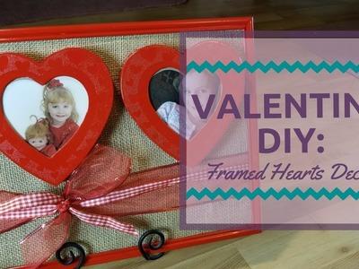 Valentine DIY: Framed Heart Decor