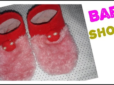 Waste kapdo ka use karke baby shoes banaye   baby shoes   simple cutting and stitching  