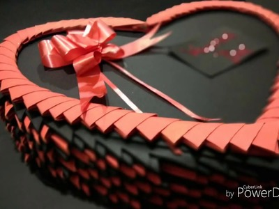 3D origami Heart Box, Valentines day special gift