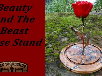 Beauty and the Beast Rose Stand. Woodturning
