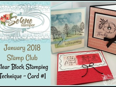 Clear Block Stamping - Card #1 Amazing You