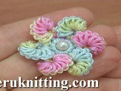 Crochet 6-Petal Flower Tutorial 194