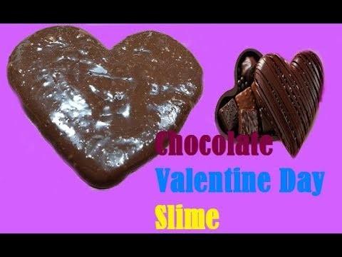DIY Chocolate Valentine Day Slime!! DIY Valentine Day Slime