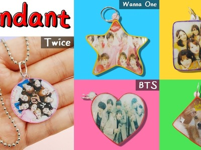 DIY) How to make Pendants. K-Pop Idol Pendants.