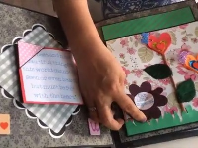 DIY scrapbook making ideas.How to make a scrapbook for  someone special.Ideas to make scrapbook