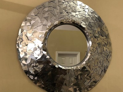 Dollar Tree DIY - ???? Silver Metallic Decorative Wall Mirror ????