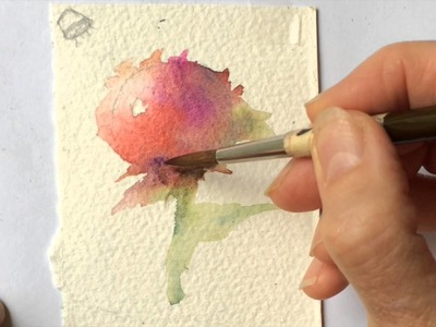 DP How to Turn a Sphere into a Rose with wet on wet technique