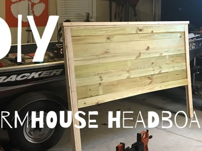 EASY DIY FARMHOUSE HEADBOARD || Sunday Shenanigans VLOG