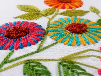 Embroidery Tutorial | Long and Short Stitch | Beautiful Flowe by nakshi katha