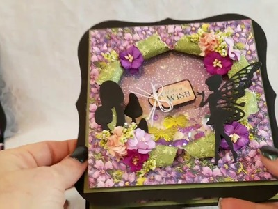 Explosion Shaker Fairy Dust Cards + Tutorial for Scarpbooking With M.E.