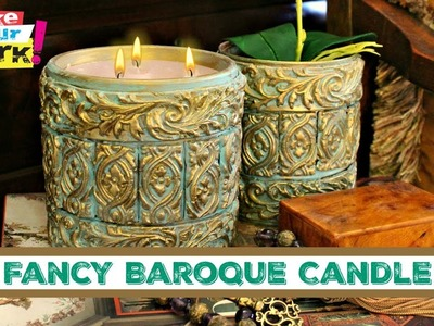 Fancy Baroque Candle