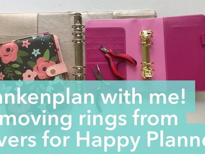 Frankenplan with me! Mini tutorial and comparison on removing rings from planner binders