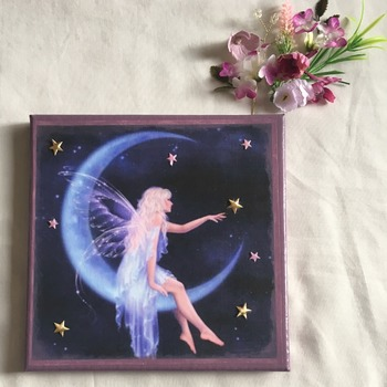 Hand Crafted Fantasy Fairy canvas wall art