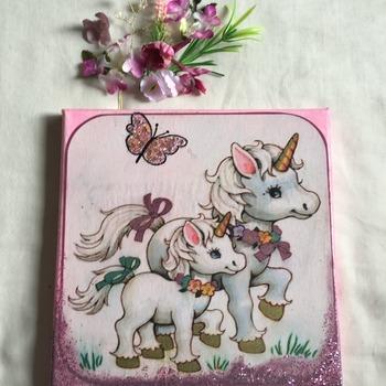 Hand Crafted fantasy unicorn canvas wall art
