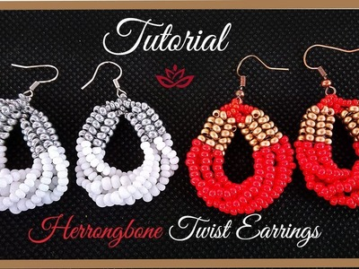 Herringbone Twist Earrings - Tutorial