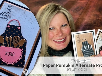 His & Hers Grill.Baker Apron Card Sets featuring Stampin Up January Paper Pumpkin Kit Alternative
