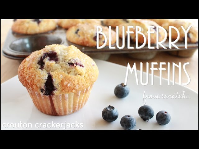 Homemade Blueberry Muffins!! How to Make Fruit Muffins from Scratch
