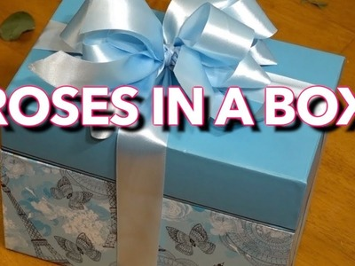 How to arrange roses in a box