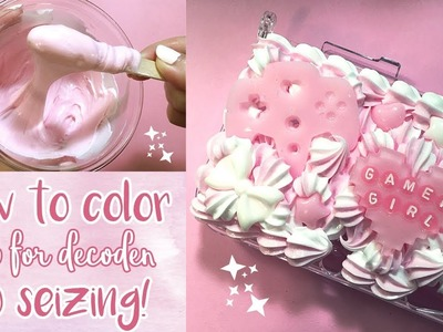 How to Color Whip for Decoden Tutorial + Watch Me Whip 3DS Case