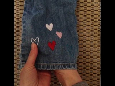 How To Embroider A Heart Onto Jeans