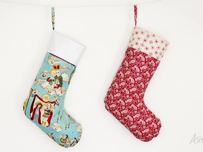 How to make a lined Christmas stocking!