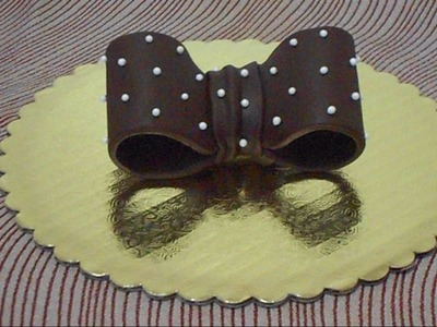How to make chocolate bow tie