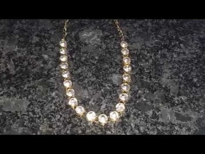 How to make  easy kundan necklace