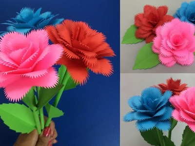 How to Make Paper Rose | Making Paper Flowers Step by Step | DIY-Paper Crafts