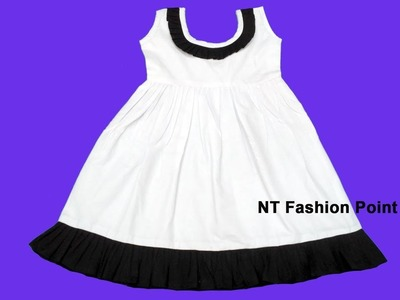 How to make simple kid's summer cotton baby frock