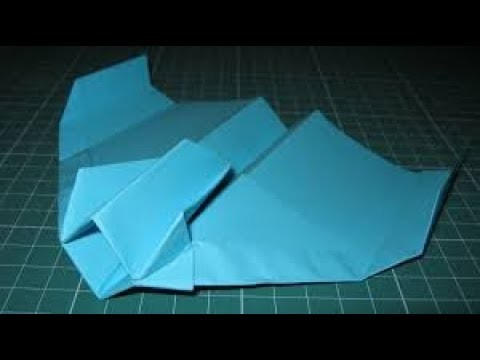 How to make star fighter paper plane (by the paper plane guy)