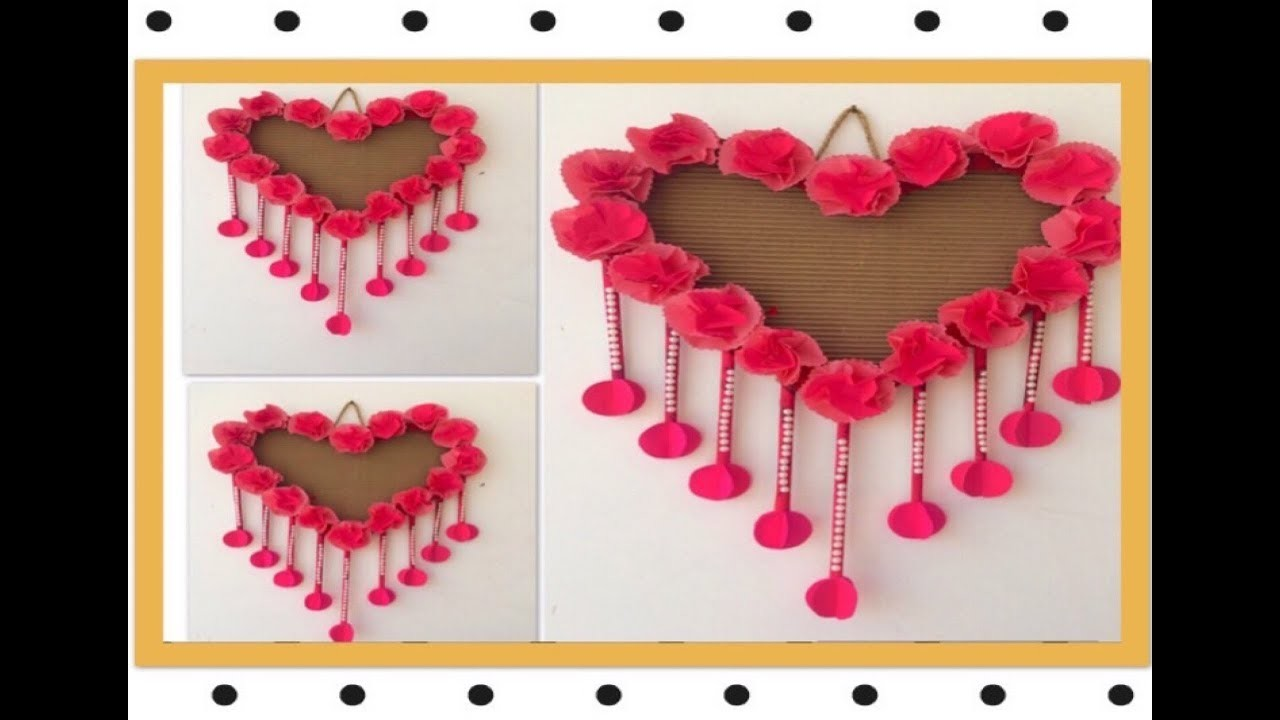 How to origami flowers heart wall hanging using craft paper and how to origami flowers heart wall hanging using craft paper and packing paper mightylinksfo