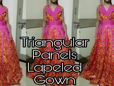 How to Stitch Triangular Panels Lapeled Dress (Full Tutorial)