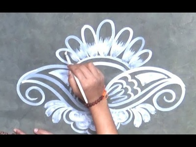 Innovative Door Rangoli designs| Easy Colourful Door Kolam & Design Innovetive rangoli Beautiful Kolam designs Simple beauty ...