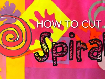 Kid's Art Tip: How to Cut Spirals