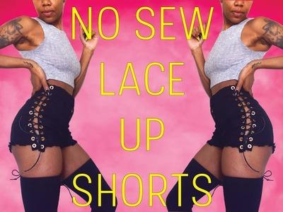 Lace Up Shorts | No Sew