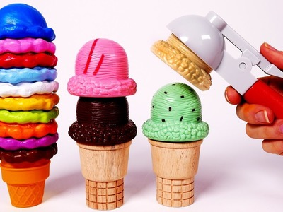 Learn Colors with Yummy Ice Cream Playset for Children