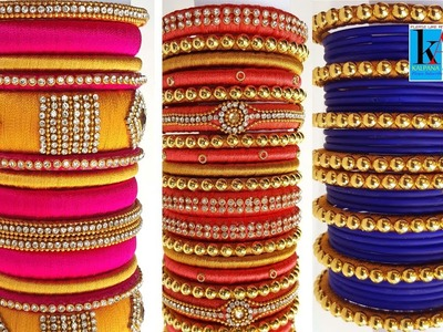 My top 20 over all silk thread bangles collection part - 7
