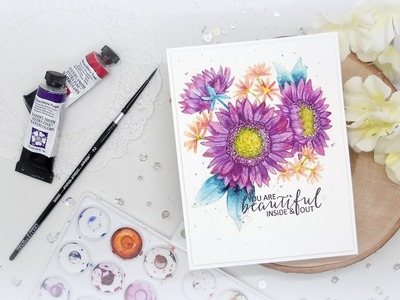 No line Watercolor: Modifying a Stamped Image : 2 truths and a lie