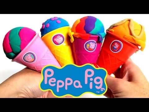 Peppa Pig Ice Cream Parlor - Play Doh Rainbow Ice Creams - Peppa Pig Toys