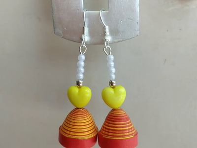 Quilling Jhumka Earring and Designs