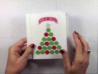 Simply Simple FLASH CARDS 2.0 - Punched Christmas tree by Connie Stewart